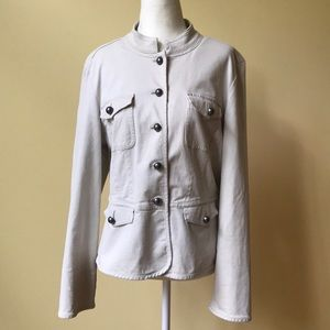 Talbot's Military Stretch Tailored Tan Jacket